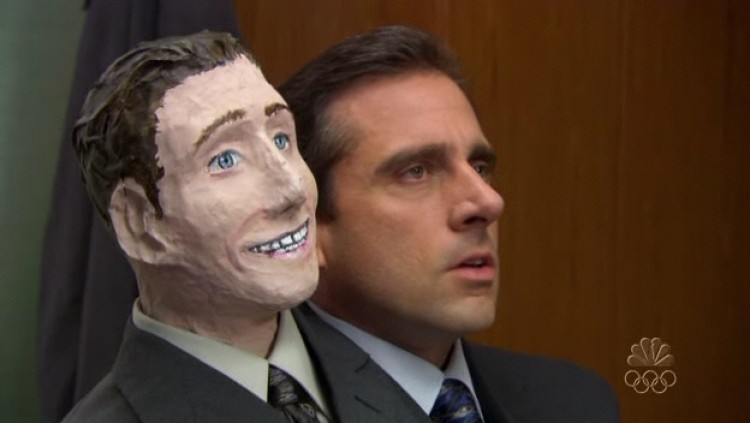 the office halloween party is a special kind of horror all its own and the office portrays it masterfully in this episode - Face In Hole Halloween